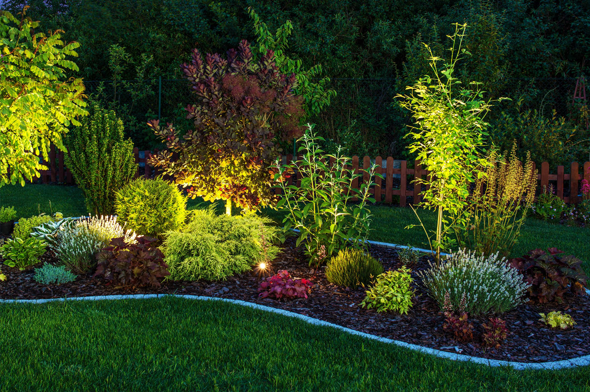 Outdoor landscape lighting complete irrigation not only will you be able to save good money on your water bill if you choose to upgrade your irrigation system but with led lighting you can also save big aloadofball Choice Image